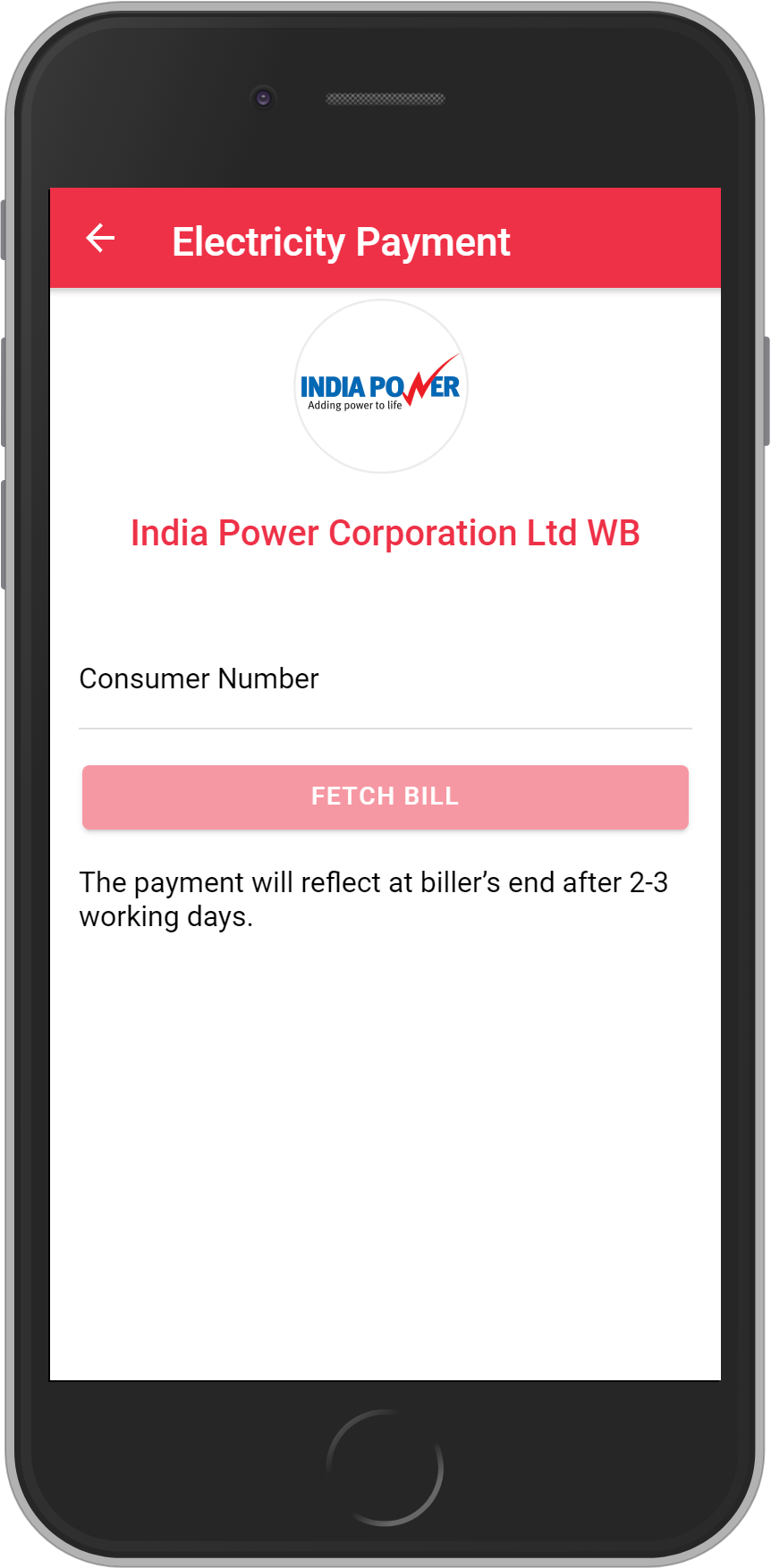 Get UNLIMITED <b>0.1%</b> CASHBACK on India Power Corporation Ltd WB Bill Payment.