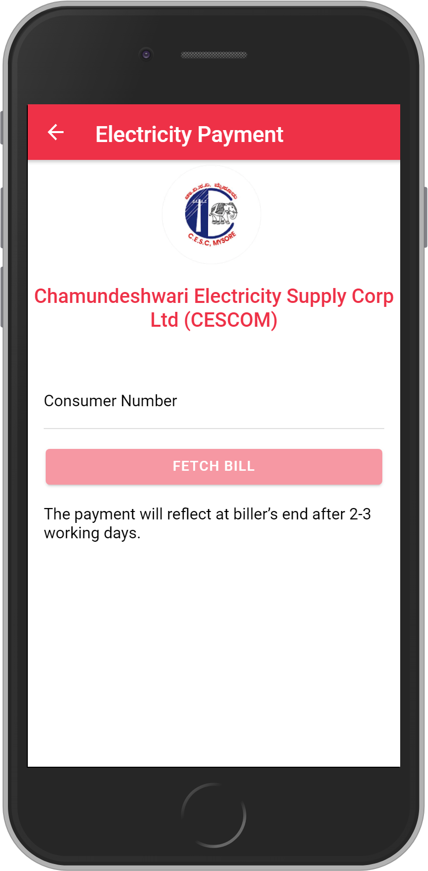 Get UNLIMITED <b>0.1%</b> CASHBACK on Chamundeshwari Electricity Supply Corp Ltd (CESCOM) Bill Payment.
