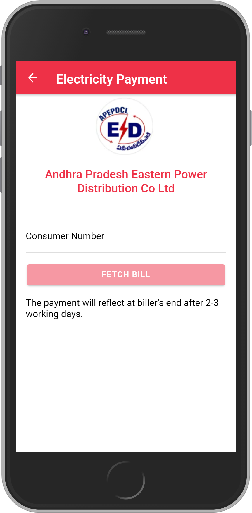 Get UNLIMITED <b>0.1%</b> CASHBACK on APEPDCL-Eastern Power Distribution CO AP Ltd Bill Payment.