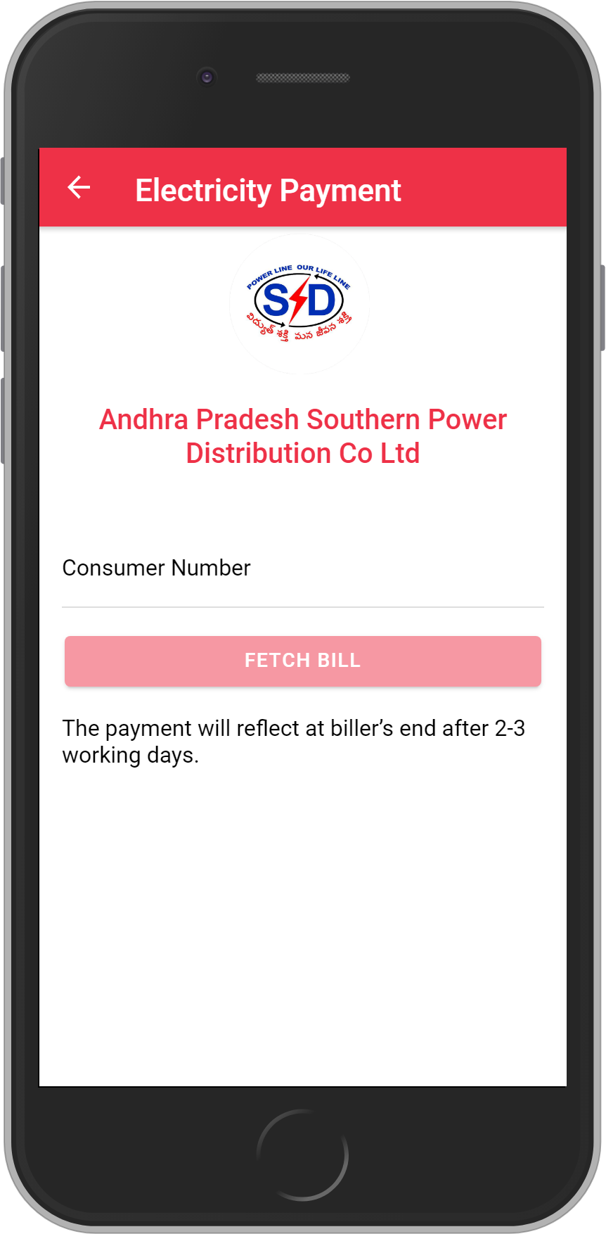 Get UNLIMITED <b>0.1%</b> CASHBACK on APSPDCL-Southern Power Distribution CO AP Ltd Bill Payment.