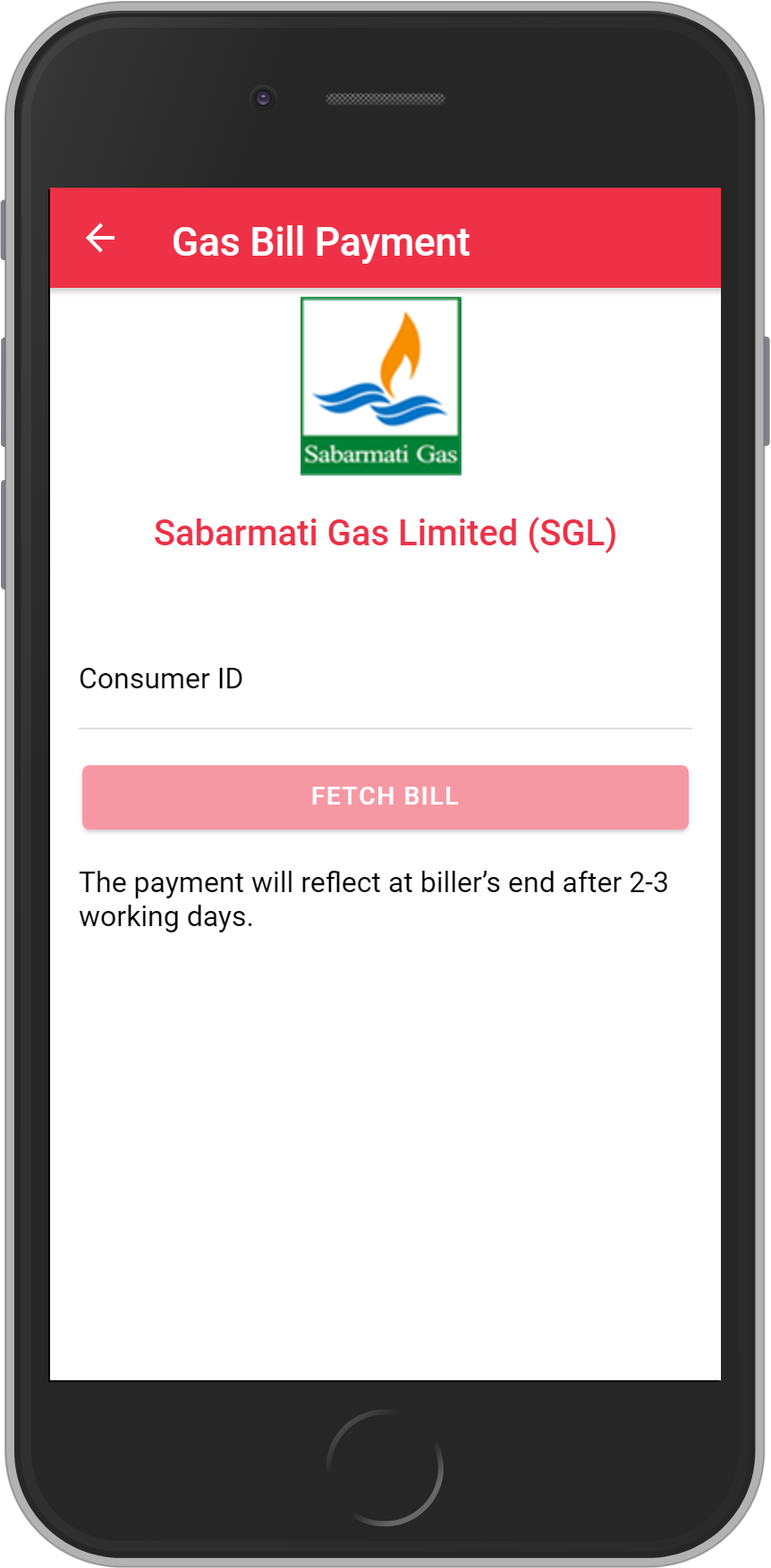 Get UNLIMITED <b>0.1%</b> CASHBACK on Sabarmati Gas Limited (SGL) Bill Payment.