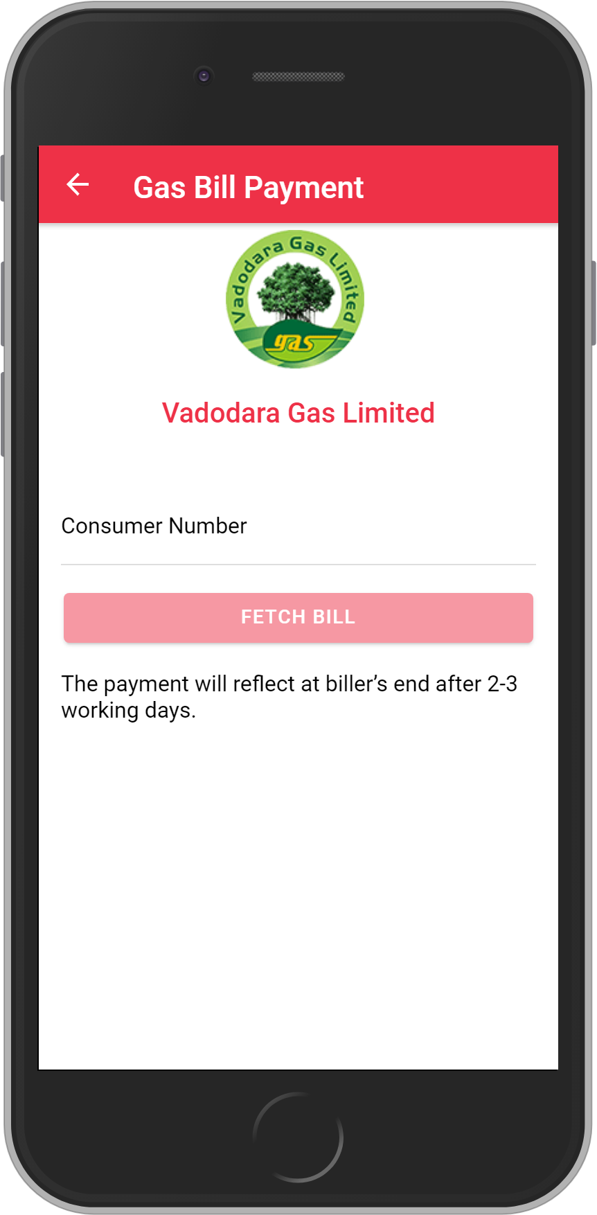 Get UNLIMITED <b>0.1%</b> CASHBACK on Vadodara Gas Limited Bill Payment.