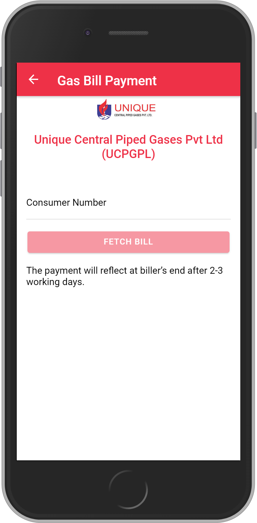 Get UNLIMITED <b>0.1%</b> CASHBACK on Unique Central Piped Gases Pvt Ltd (UCPGPL) Bill Payment.