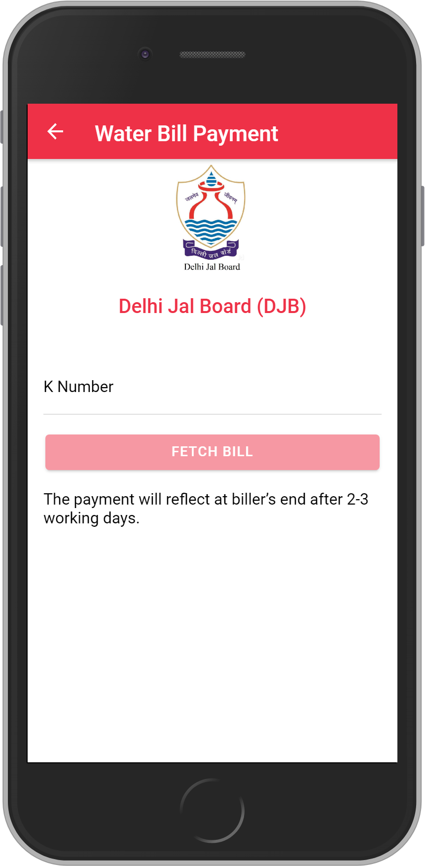 Get UNLIMITED <b>0.1%</b> CASHBACK on Delhi Jal Board (DJB) Bill Payment.