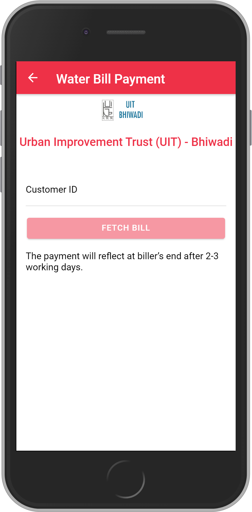 Get UNLIMITED <b>0.1%</b> CASHBACK on Urban Improvement Trust (UIT) – Bhiwadi Bill Payment.