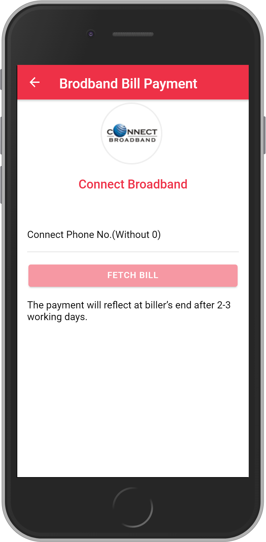 Get UNLIMITED <b>0.1%</b> CASHBACK on Connect Broadband Bill Payment.