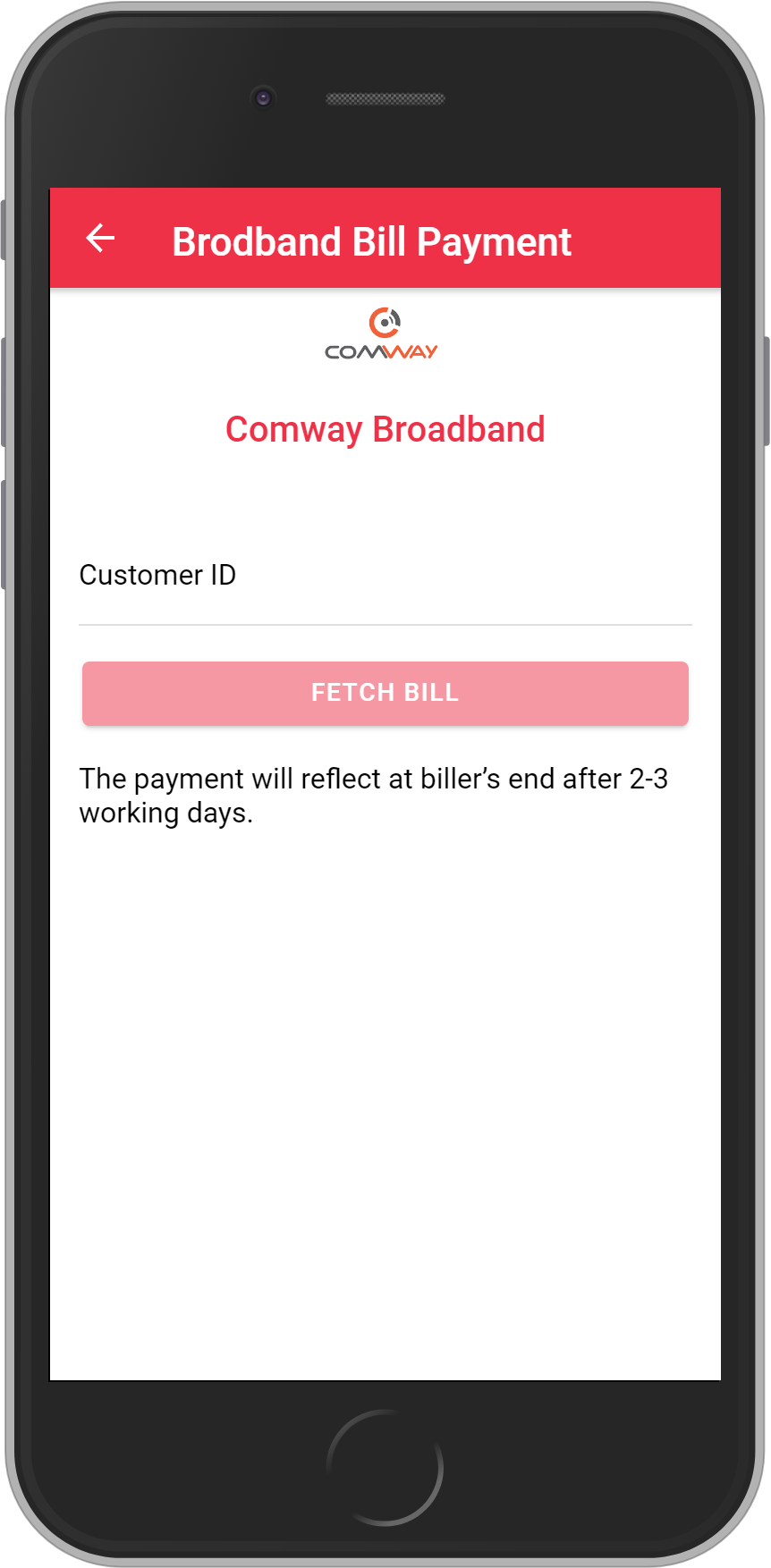Get UNLIMITED <b>0.1%</b> CASHBACK on Comway Broadband Bill Payment.