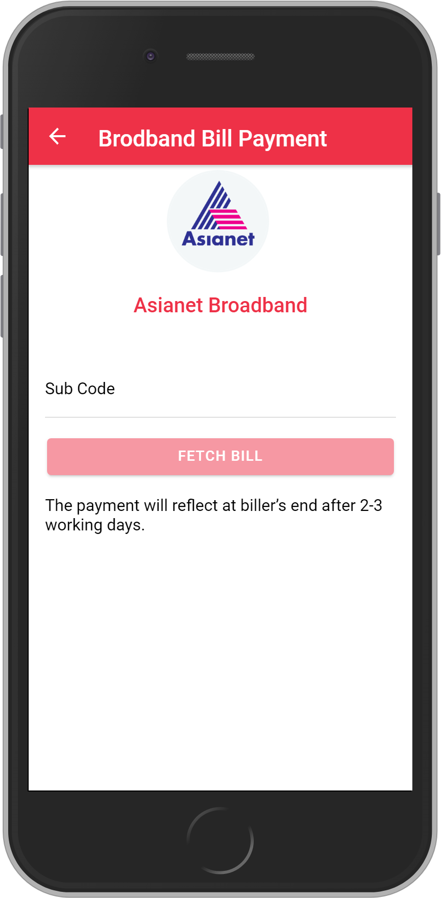 Get UNLIMITED <b>0.1%</b> CASHBACK on Asianet Broadband Bill Payment.