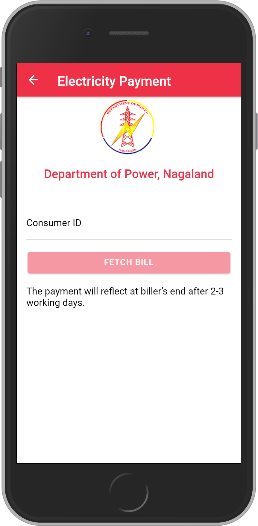 Get UNLIMITED <b>0.1%</b> CASHBACK on Department of Power, Nagaland Bill Payment.
