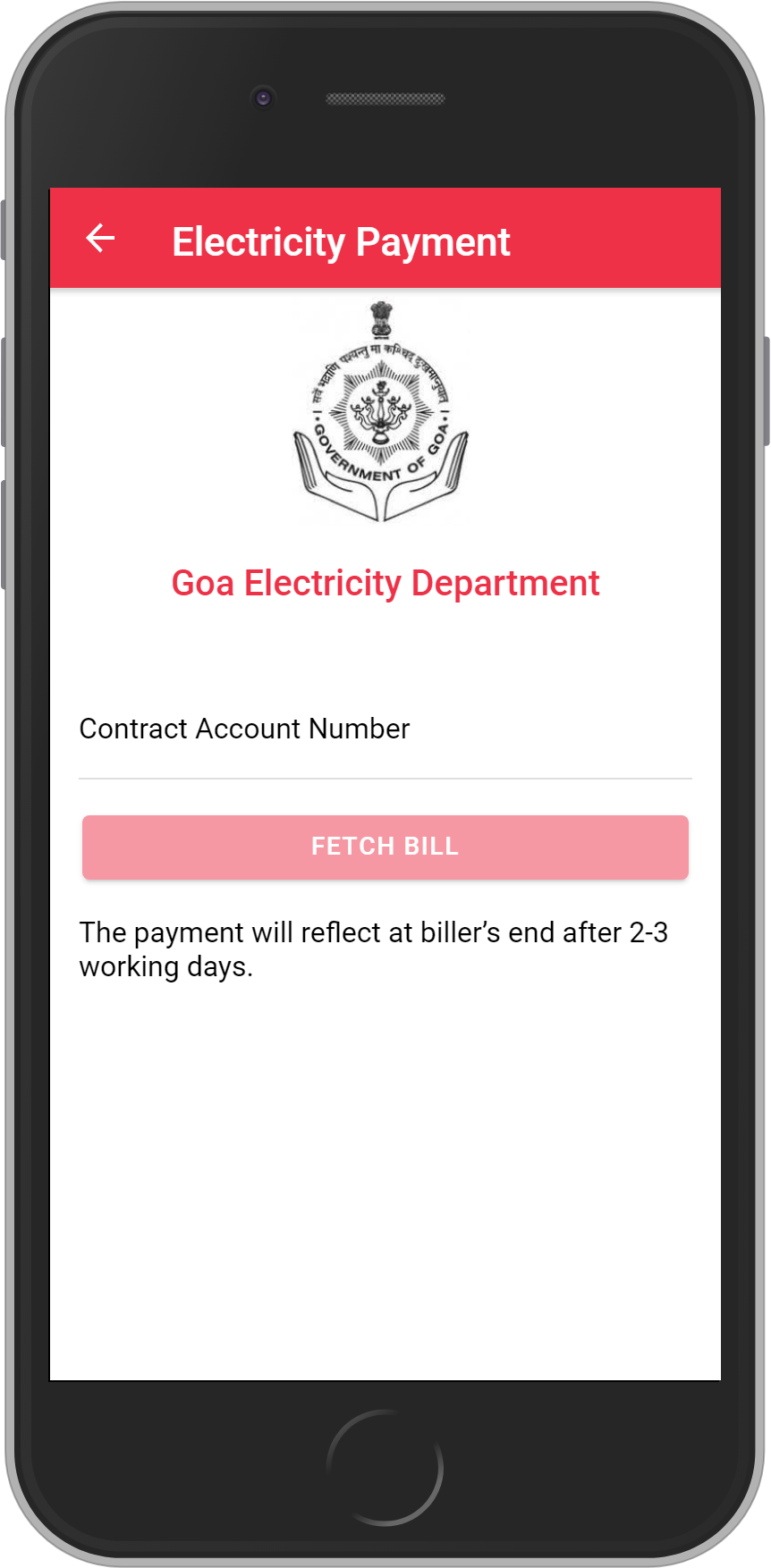 Get UNLIMITED <b>0.1%</b> CASHBACK on Goa Electricity Department Bill Payment.