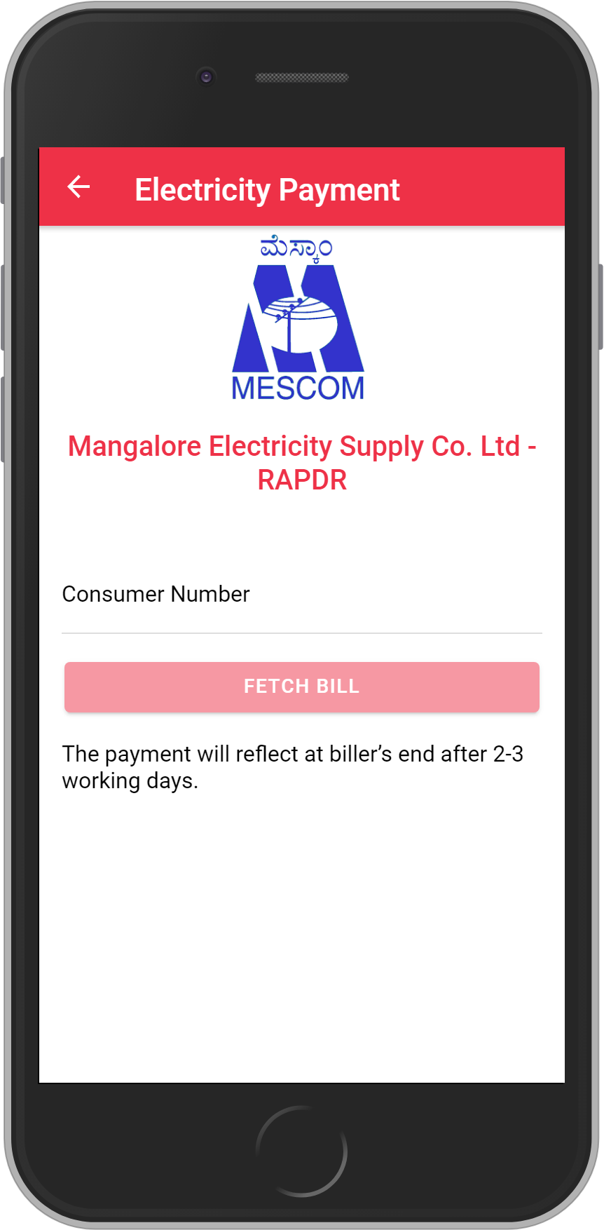 Get UNLIMITED <b>0.1%</b> CASHBACK on Mangalore Electricity Supply Co. Ltd – RAPDR Bill Payment.