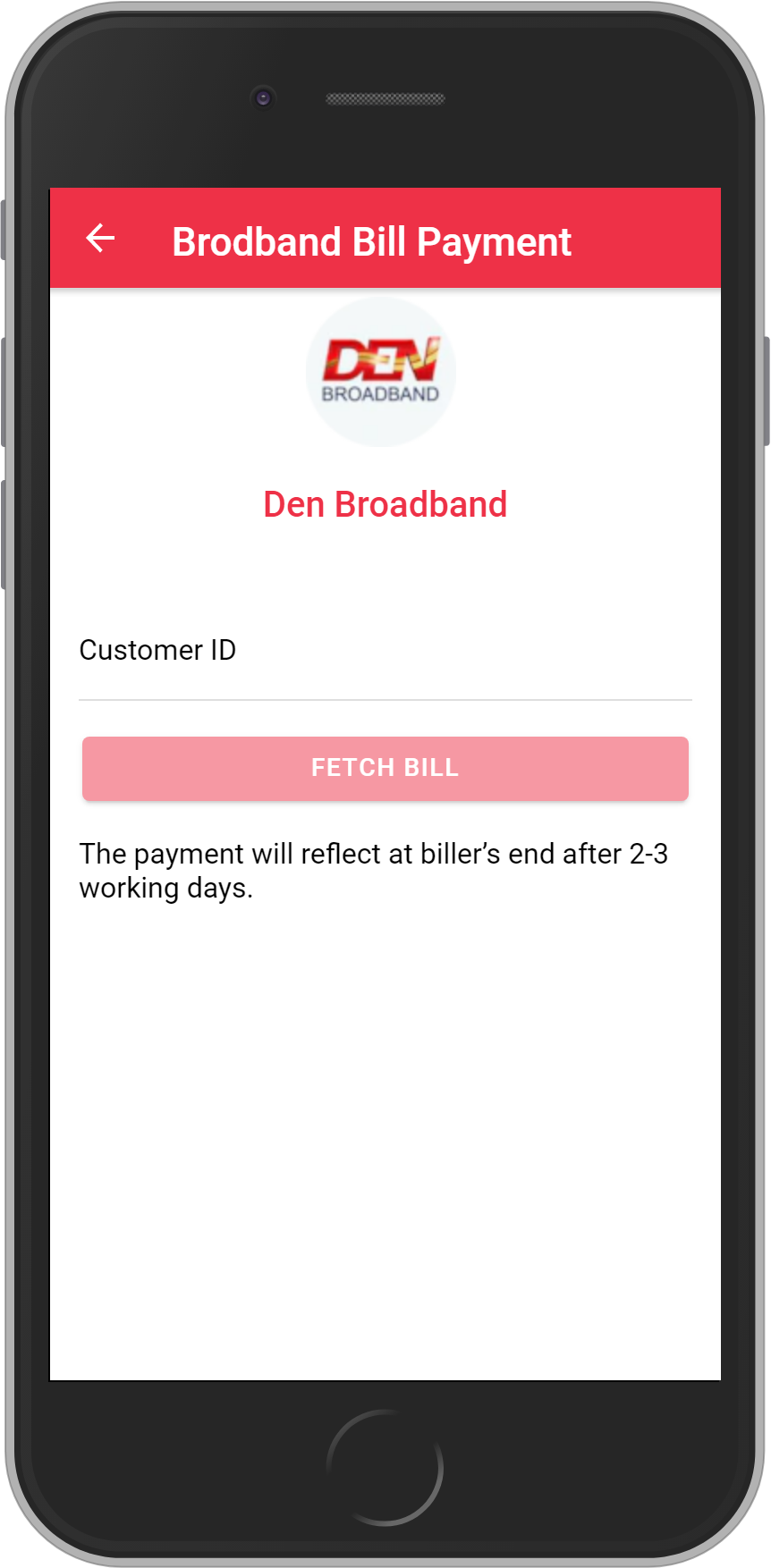 Get UNLIMITED <b>0.1%</b> CASHBACK on Den Broadband Bill Payment.