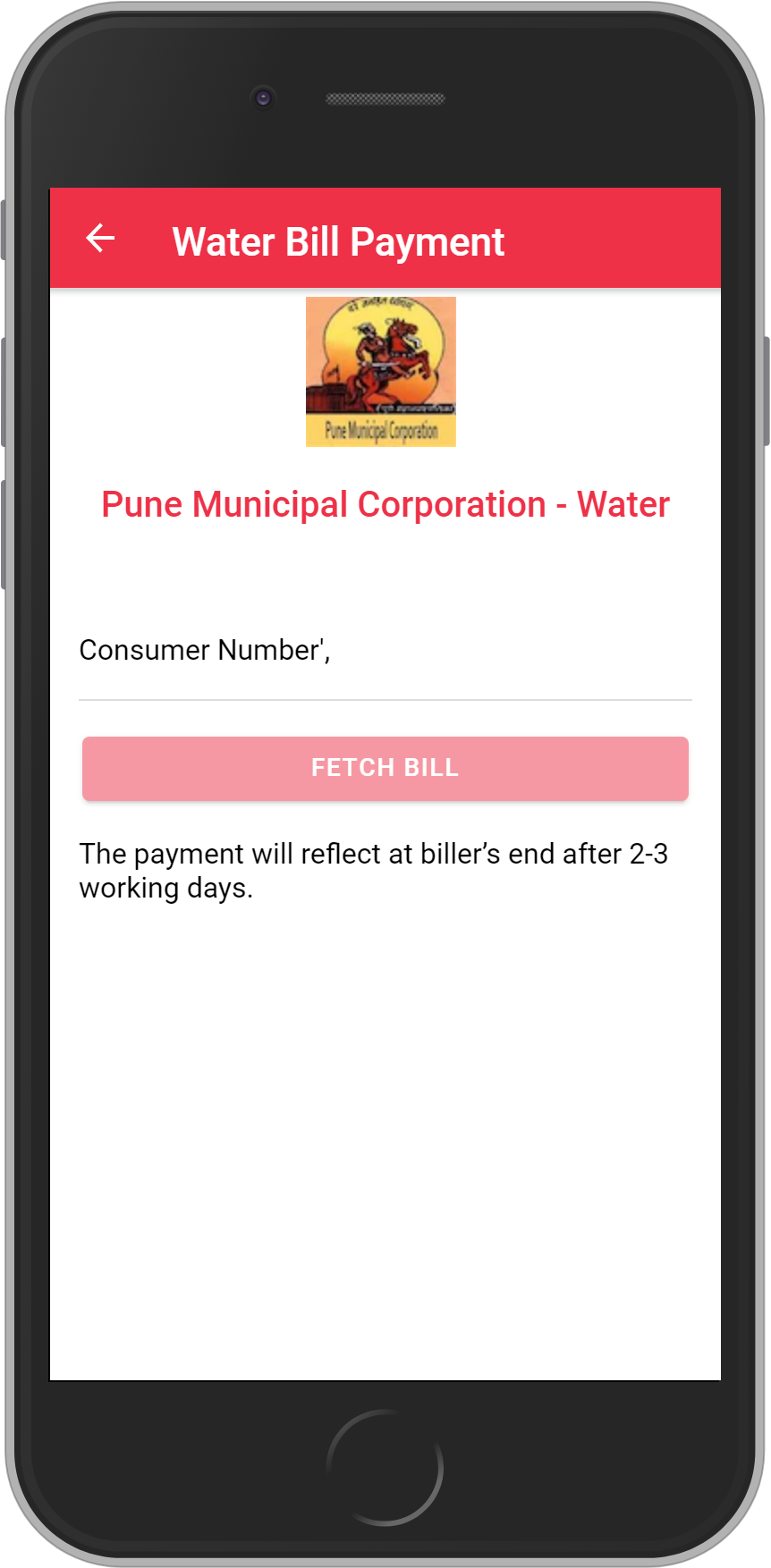 Get UNLIMITED <b>0.1%</b> CASHBACK on Pune Municipal Corporation – Water Bill Payment.