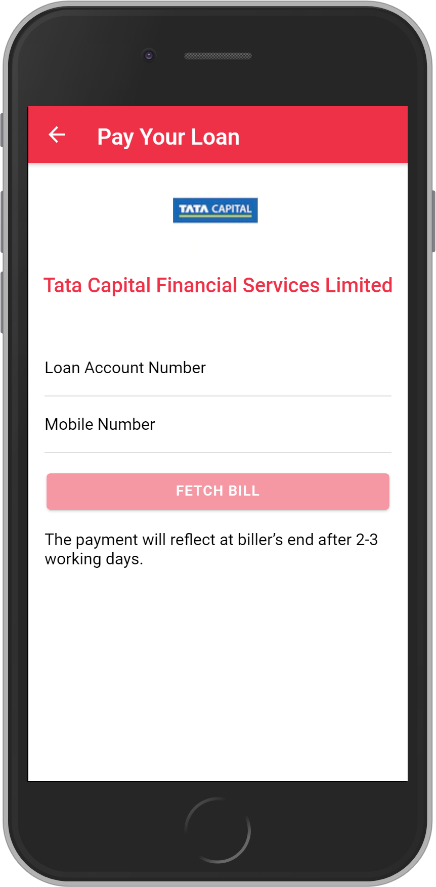 Get UNLIMITED <b>0.1%</b> CASHBACK on Tata Capital Financial Services Limited Loan Payment.