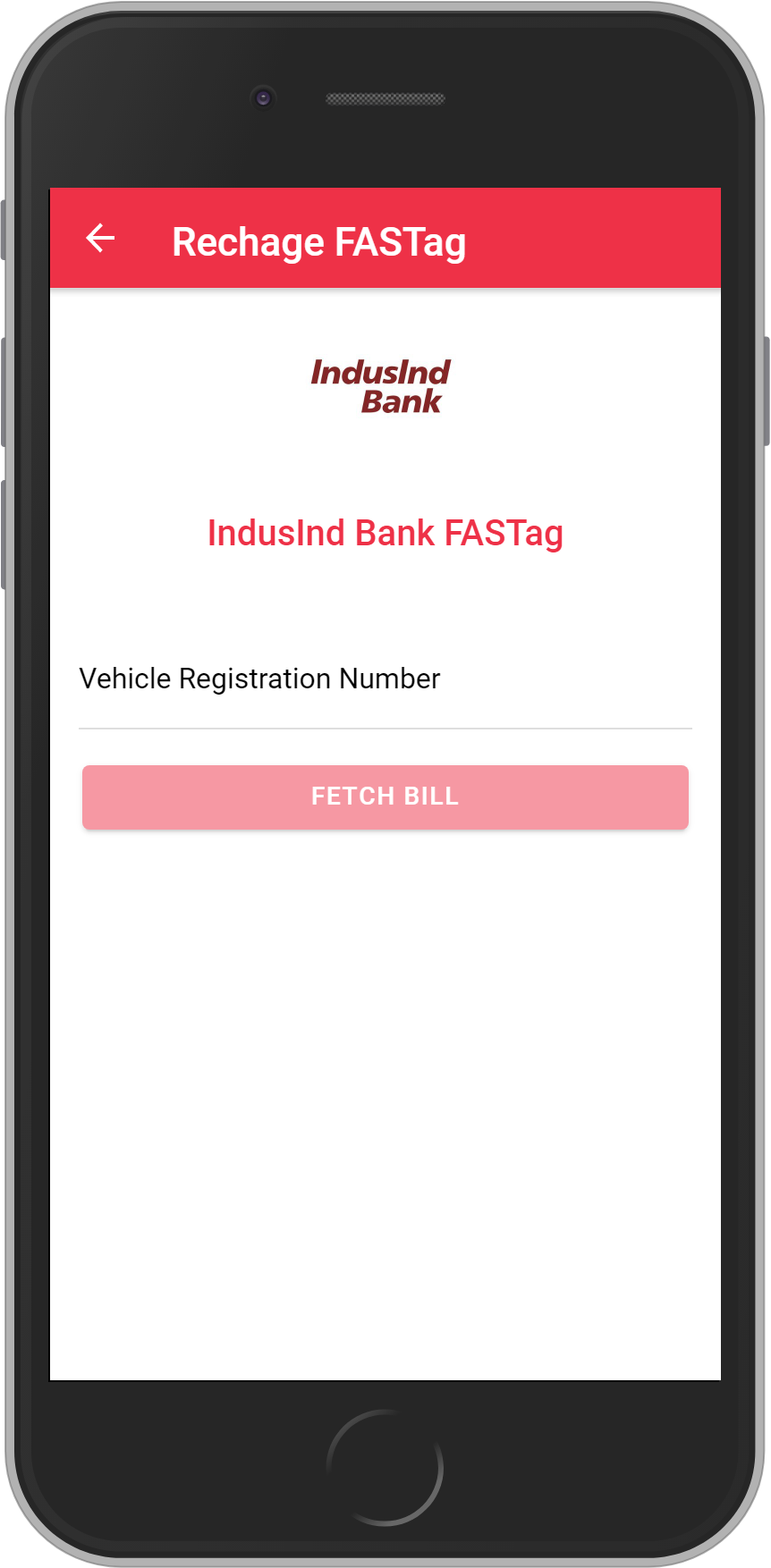 Get UNLIMITED <b>0.1%</b> CASHBACK on IndusInd Bank FASTag Recharge.