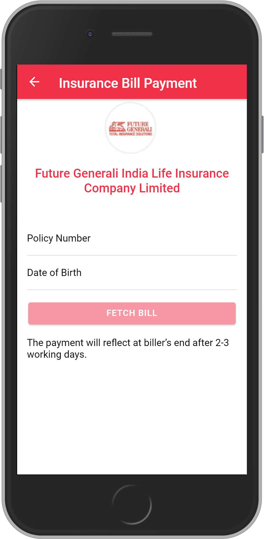 Get UNLIMITED <b>0.10%</b> CASHBACK on Future Generali India Life Insurance Company Limited Payment.