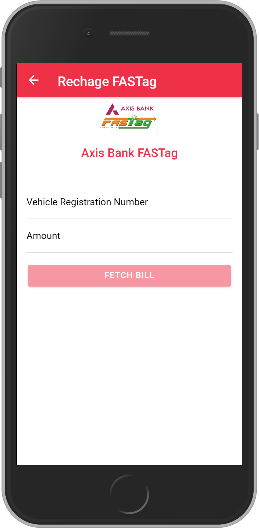 Get UNLIMITED <b>0.1%</b> CASHBACK on Axis Bank FASTag Recharge.