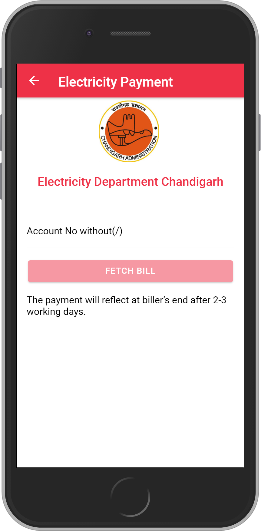 Get UNLIMITED <b>0.1%</b> CASHBACK on Electricity Department Chandigarh Bill Payment.