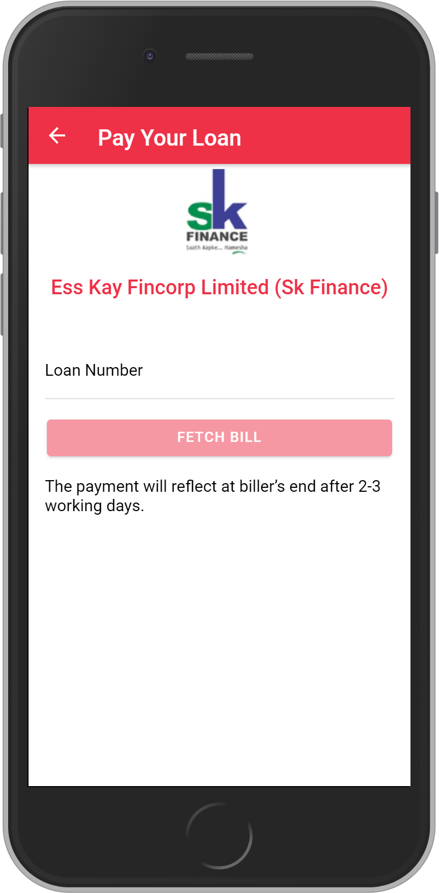 Get UNLIMITED <b>0.1%</b> CASHBACK on Ess Kay Fincorp Limited (Sk Finance) Loan Payment.