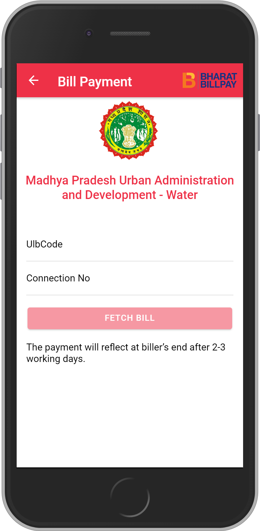 Get UNLIMITED <b>0.1%</b> CASHBACK on Madhya Pradesh Urban Administration and Development – Water Bill Payment.