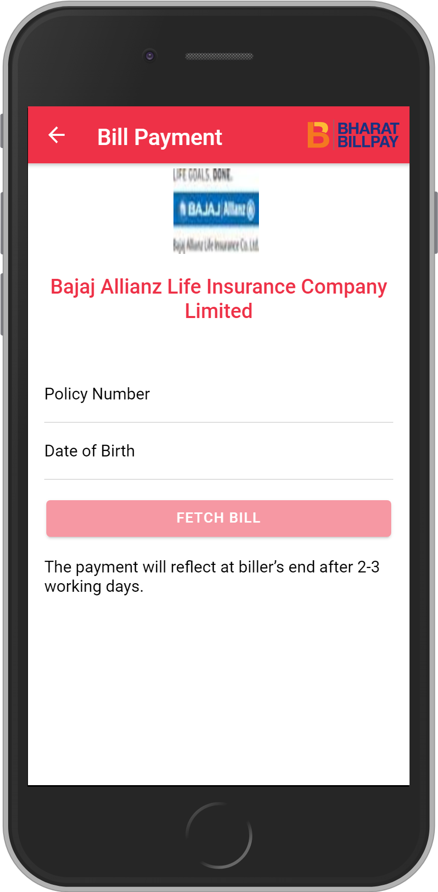 Get UNLIMITED <b>0.10%</b> CASHBACK on Bajaj Allianz Life Insurance Company Limited Payment.