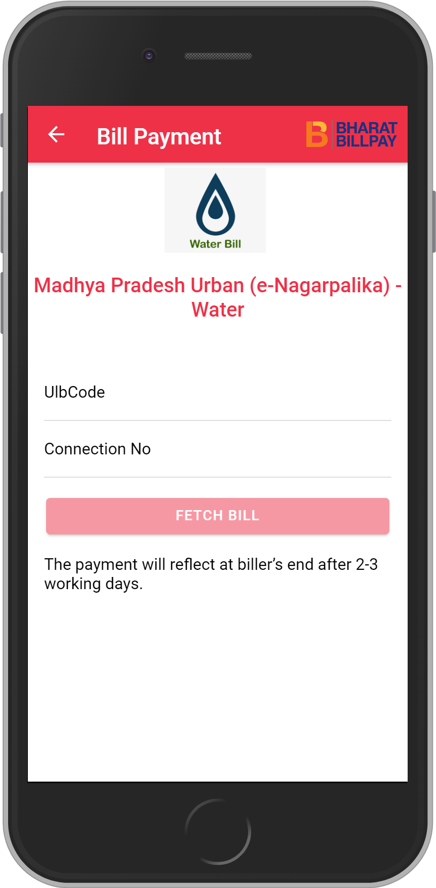 Get UNLIMITED <b>0.1%</b> CASHBACK on Madhya Pradesh Urban (e-Nagarpalika) – Water Bill Payment.