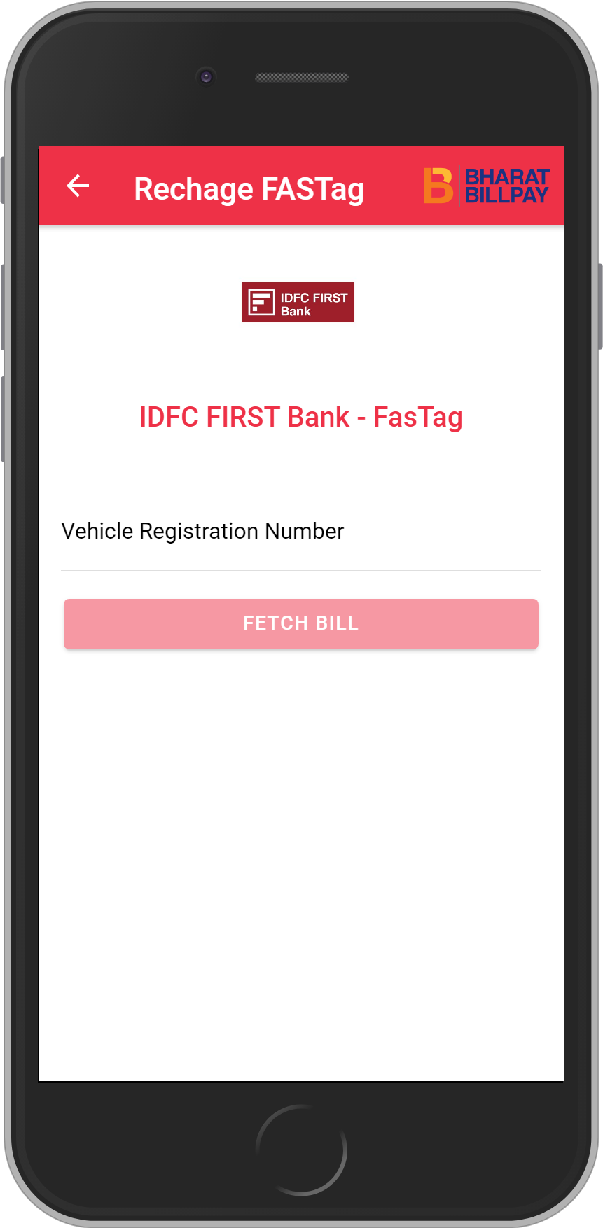 Get UNLIMITED <b>0.1%</b> CASHBACK on IDFC FIRST Bank – FasTag Recharge.