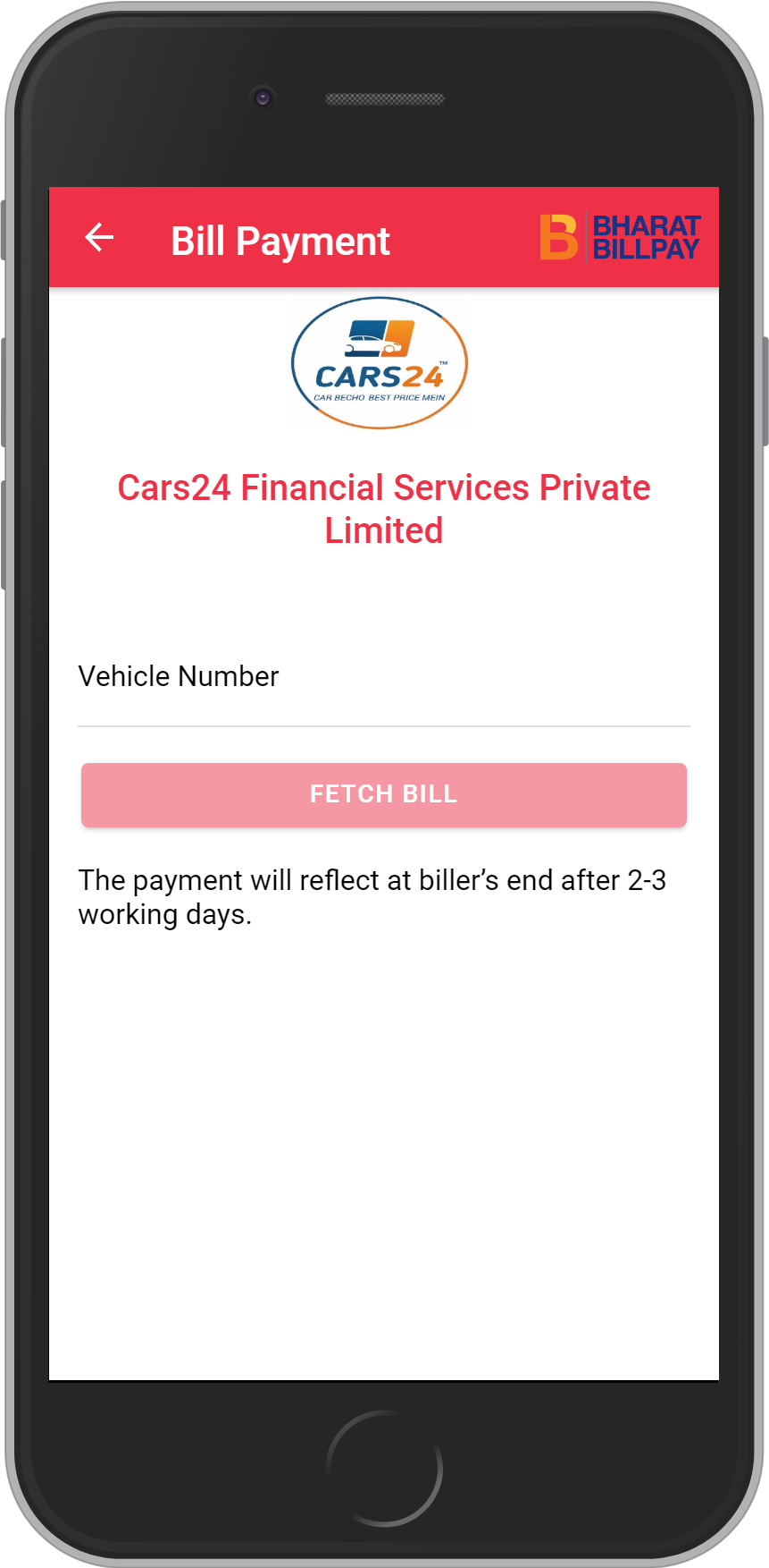 Get UNLIMITED <b>0.1%</b> CASHBACK on Cars24 Financial Services Private Limited Loan Payment.