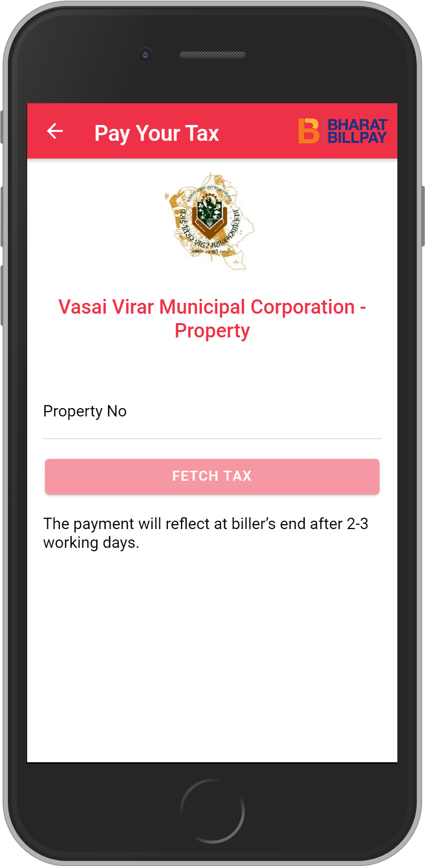 Get UNLIMITED <b>0.1%</b> CASHBACK on Vasai Virar Municipal Corporation – Property Recharges.