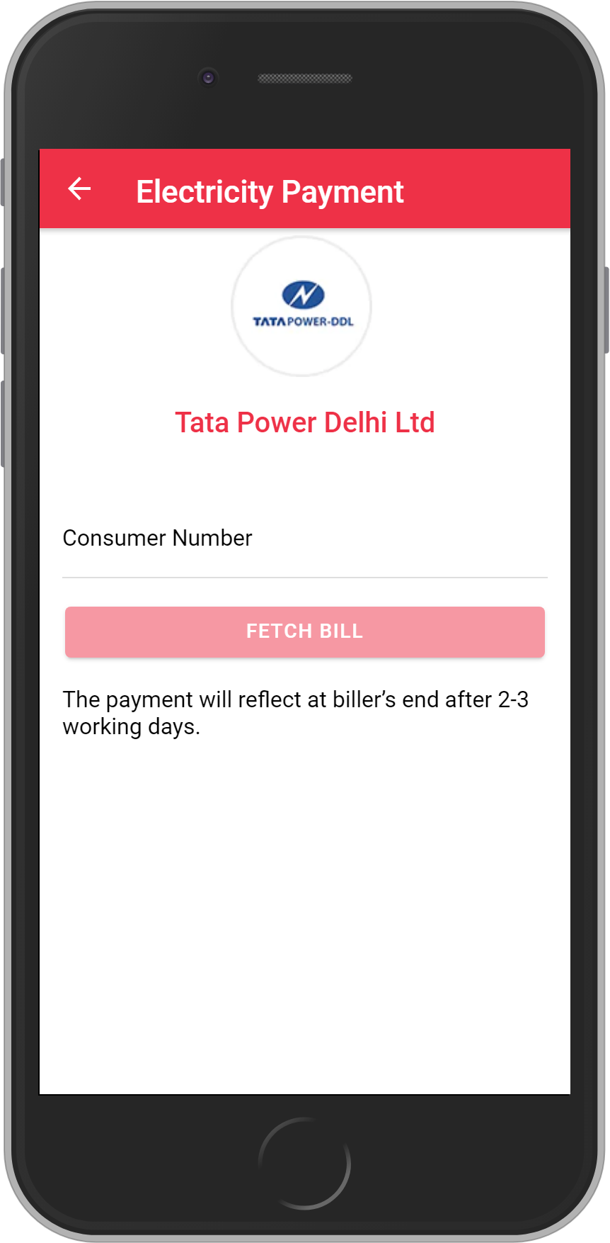Get UNLIMITED <b>0.1%</b> CASHBACK on Tata Power Delhi Limited – Delhi Bill Payment.