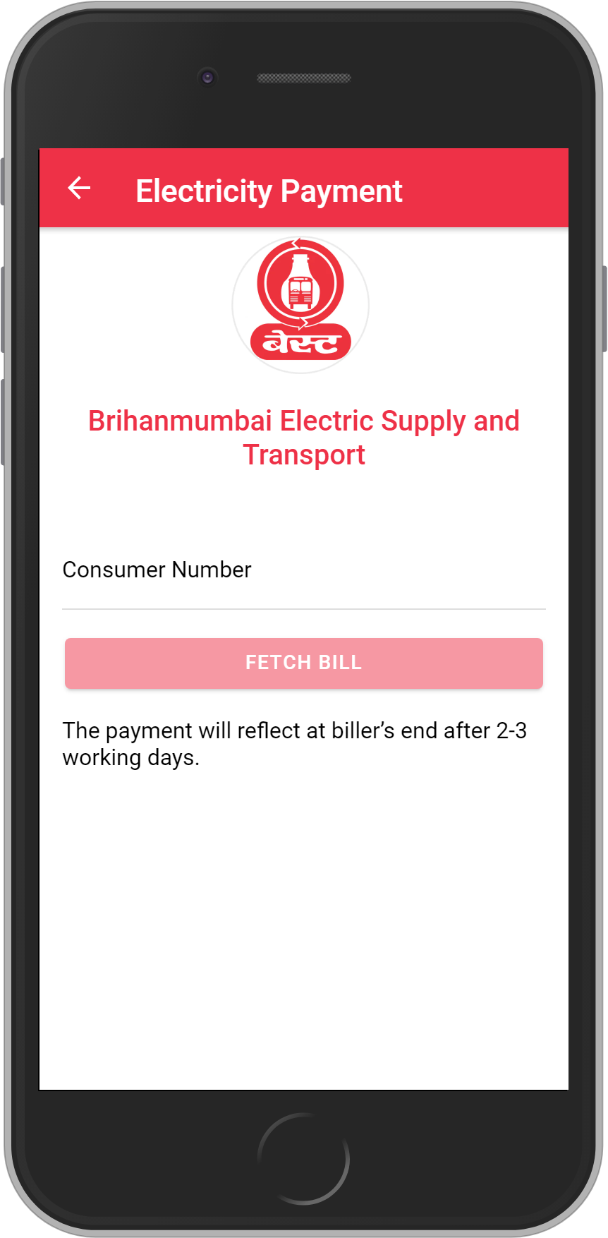 Get UNLIMITED <b>0.1%</b> CASHBACK on Best Electricity – Mumbai Bill Payment.