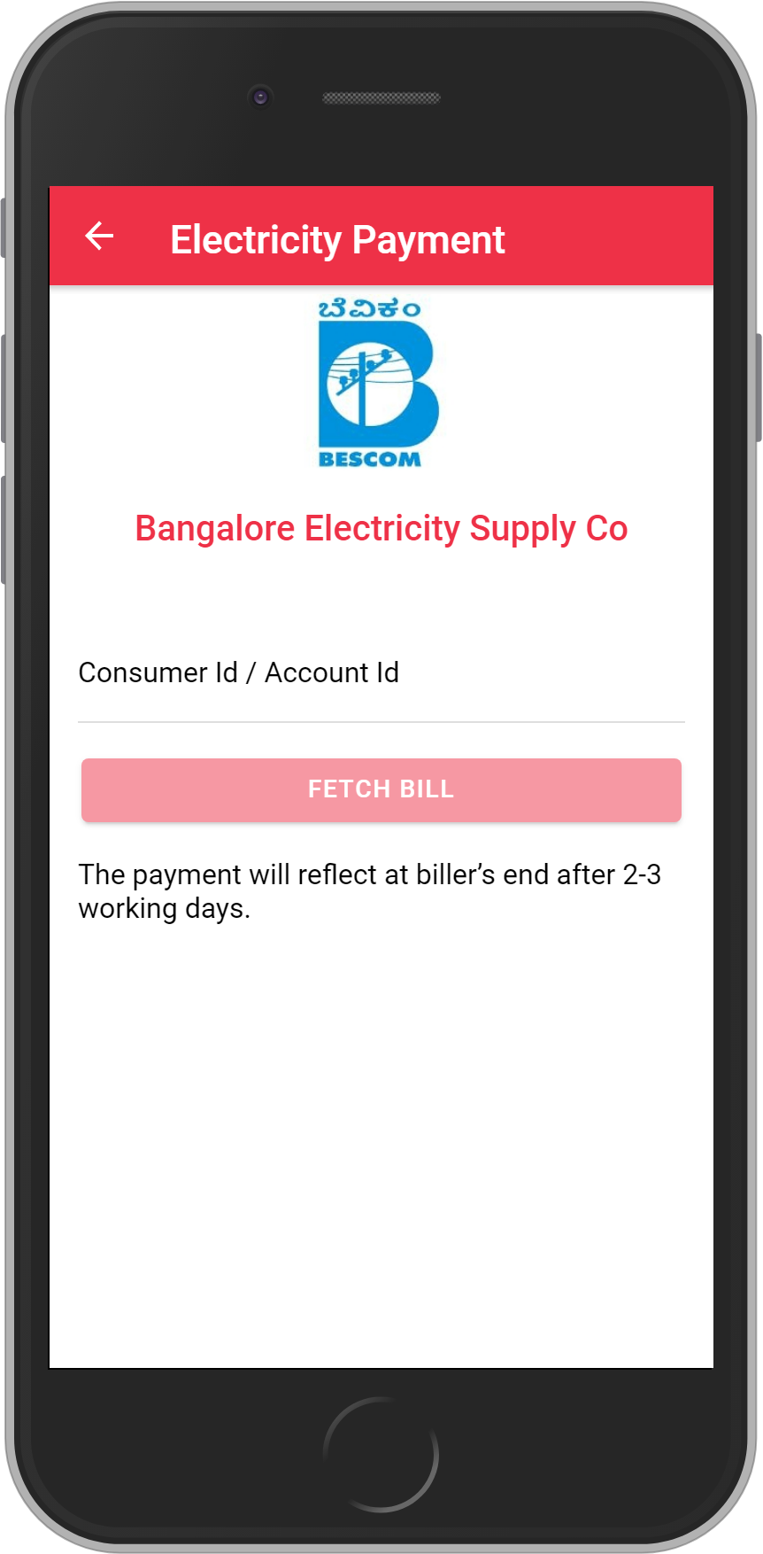 Get UNLIMITED <b>0.1%</b> CASHBACK on Bangalore Electricity Supply Company Bill Payment.