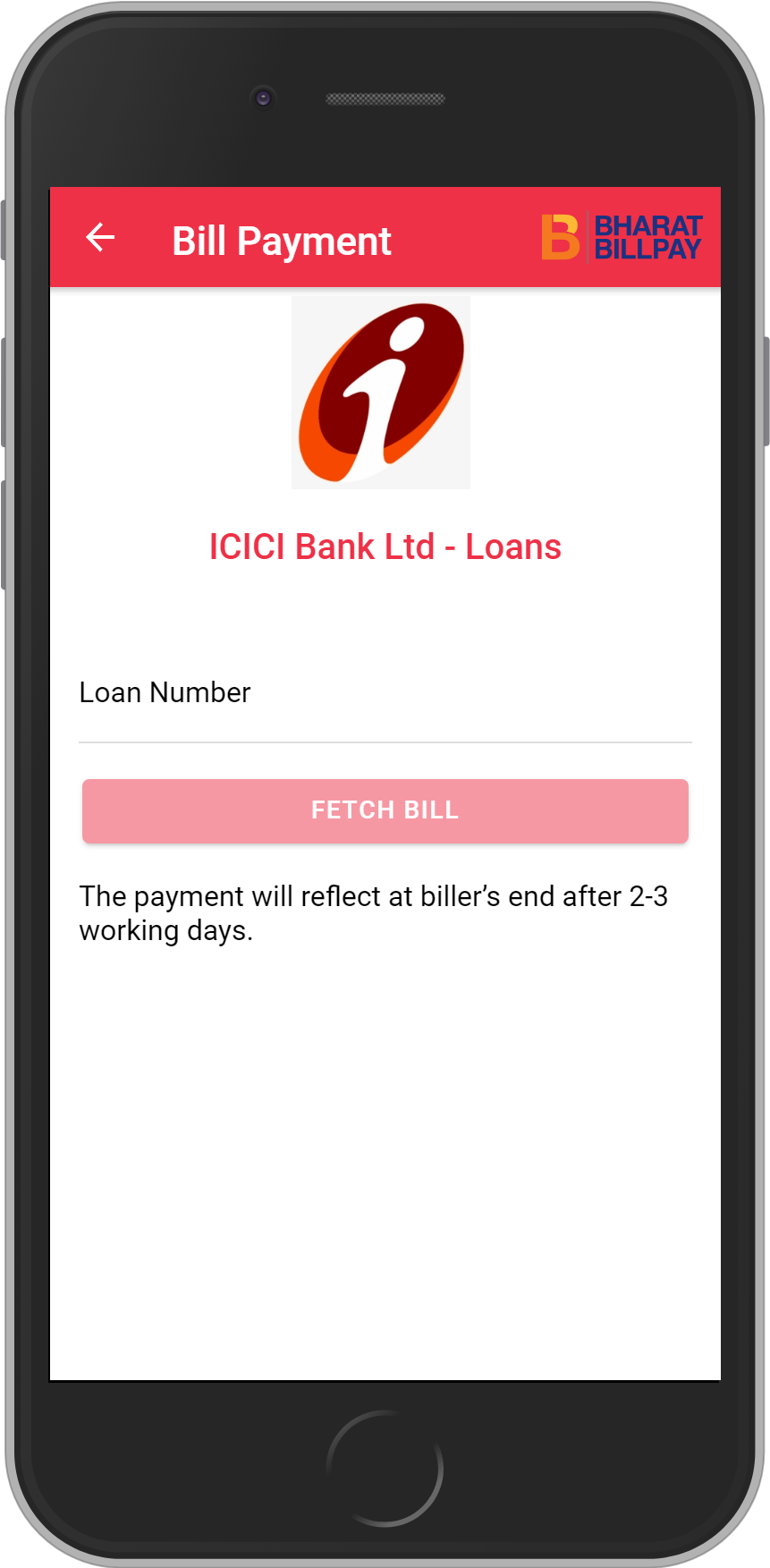 Get UNLIMITED <b>0.1%</b> CASHBACK on ICICI Bank Ltd – Loans Loan Payment.