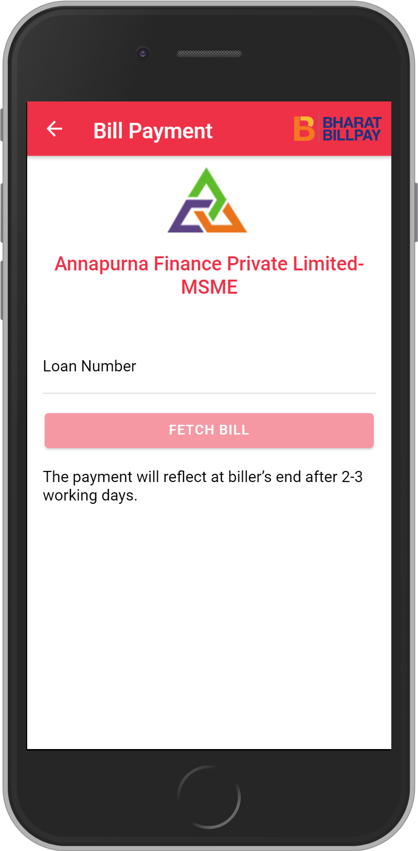 Get UNLIMITED <b>0.1%</b> CASHBACK on Annapurna Finance Private Limited-MSME Loan Payment.