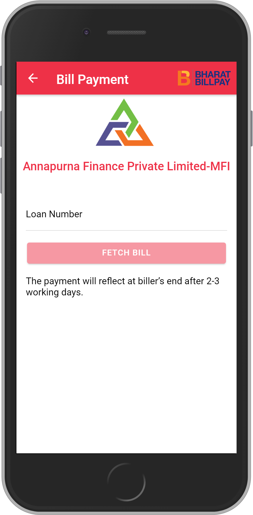 Get UNLIMITED <b>0.1%</b> CASHBACK on Annapurna Finance Private Limited-MFI Loan Payment.